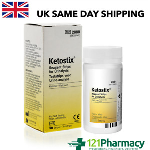 Ketostix Strips - 50 TESTS Reagent Urinalysis Ketone PHARMACY