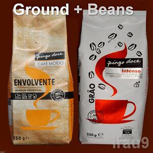 Coffee Arabica & Robusta -  Ground + Beans - Portuguese Full bodied 2x 250g