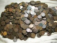 SALE @ 1090+ INDIAN HEAD CENT PENNY MIXED DATES 1859-1909 BELOW AVERAGE LOT