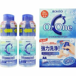 2 pieces ROHTO C Cube O2 One Contact Lens Cleaner 120ml From Japan