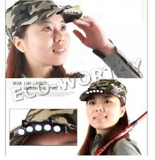 5 LED Head Light HeadLamp Cap Torch Bulb fit for Outdoor Fishing Camping Hunting