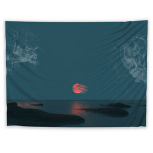 Illustration Trippy Fantasy Tapestry Wall Art Poster Hanging Cover