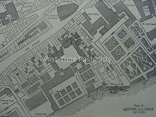 London MAP - PLAN OF ARUNDAL & ESSEX HOUSES Original Victorian Print 1878