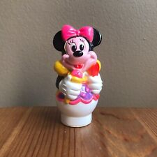 Disney Minnie Mouse Figure Toy w/ Round Bottom Ice Cream Diner Waitress Thailand