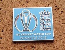 ENGLAND - 2019 CRICKET WORLD CUP WINNERS Pin/Badge (light blue)