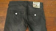 Authentic True Religion Mens Micro Corduroy Stretch Pants 32x34 33 Ricky Black