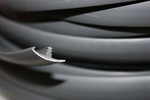 SILVER T TRIM 15mm. 10 METRE SINGLE LIPPED FURNITURE KNOCK ON EDGING VW CAMPER