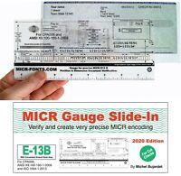 MICR Check Setup Gauge for Cut Checks, E-13B & CMC-7 Check Position Gauge