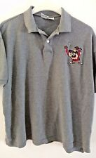Looney Tunes Taz Embroidered Golf Polo Mens Shirt L Gray Tazmanian Devil