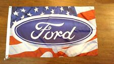 FORD AMERICA FLAG BANNER 3X5FT MUSTANG TAURUS SHO GT500 SHELBY F150 RAPTOR FOCUS