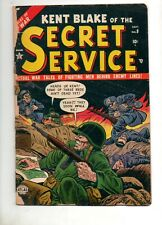 Kent Blake of the Secret Service #9 ATLAS / MARVEL 1952 War Book! NICE but Split