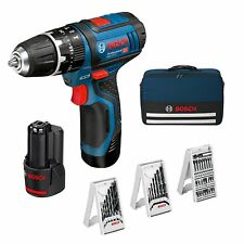 Perceuse Professionnel Bosch 2 Batterie Lithium Chargeur Sac Transport +