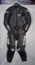 Berik 8323 Two Piece Motorcycle Leather Race Road Suit - EU 52 / UK 42 - Black
