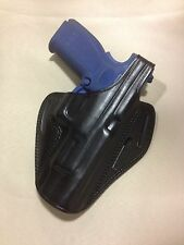 """Leather PANCAKE Holster - SPRINGFIELD XD-M  4.5"""" or 5"""" Barrel (# 8641 BLK)"""