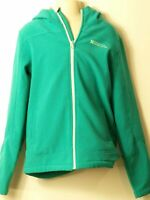 GIRLS MOUNTAIN WAREHOUSE AGE 11-12 YEARS GREEN HOODED LINED ZIP UP JACKET TOP