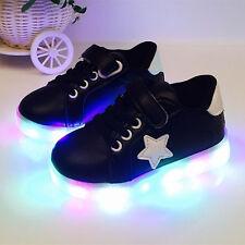 LED Light Up Luminous Shoes Kids Toddler Infants Trainers Boys Girls Unisex Gift