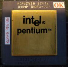 INTEL A80502-90 SZ978 L5131758-0122, PENTIUM 90MHZ CPU PROCESSOR Gold Ceramic