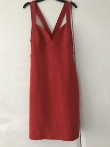 Topshop little red stretch dress size 10