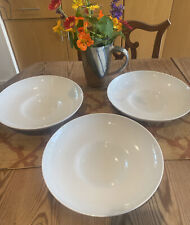 """Rosenthal Germany NIDO Deep White Porcelain Bowl 11"""" Wide, Heavy EUC;3 Available"""