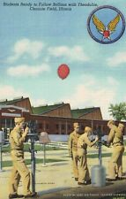 Chanute Field,IL.WW II,Students Following Balloons with Theodolite,LInen,c.1940s