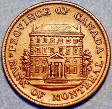1842 Canada Province. Bank of Montreal Half Peny . Concordia Salus