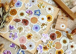 COUNTRYSIDE FLOWER STICKERS Floral Scrapbook Journal Card Craft Decoration