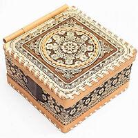 Holz Schatulle Dose Schachtel Box Natur Bio Öko Organikprodukt Handmade