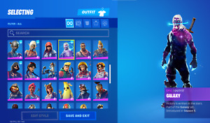 fn account with ikonik, galaxy, and 90 other skins