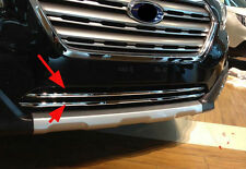 Front Lower Grille Molding Cover Trim for 2015 2016 Subaru Outback Chrome 2PCS