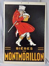PLV CARTON AFFICHE PUBLICITAIRE BIERES DE MONTMORILLON  55 cm  x 38 cm