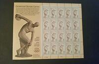 Centennial Olympic Games Stamp Sheet; 1996 Scott# 3087; 20-32c