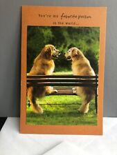 Golden Retriever Favorite Person Love Best Friend Spouse American Greetings Card