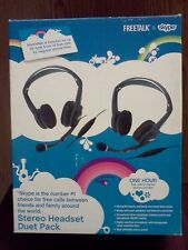 SKYPE Freetalk Stereo Headset Duet Pack