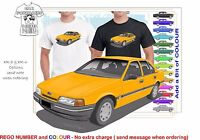 CLASSIC 88-91 EA FALCON SEDAN ILLUSTRATED T-SHIRT MUSCLE RETRO SPORT CAR