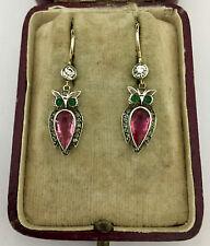Owl Earrings Circa 1800's A Wonderful Pair Of Paste