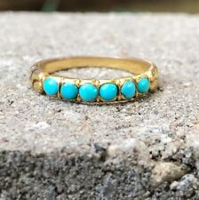 GEORGIAN TURQUOISE AND YELLOW GOLD BAND