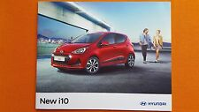 Hyundai i10 S SE Blue Premium sales brochure catalogue January 2017 MINT i 10