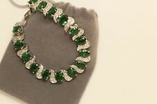 Womens Diamond Bracelet 14K White Gold Finish 8 ct