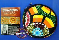 Australian Souvenir Indigenous Aboriginal Coin Money Round Purse Wallet Pouch