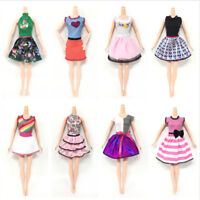 5 Sets Beautiful Handmade Fashion Clothes Dress For  Doll Girls Toy Gift