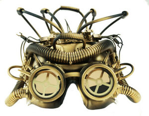 Cyborg Space Helmet Steampunk Face Mask Halloween Face Mask
