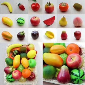 Artificial Lifelike Fake Various Fruits Home Kitchen Party Decor Display Plastic