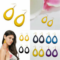 Personalized Hollow Wood Dangle Drop Earrings For Women Costume Wooden Jewelry