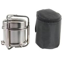 New Outdoor Portable Camping Cooking Stainless Steel Lightweight  Alcohol Stove~