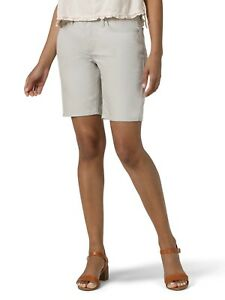 "Lee Riders Women's Bermuda Short Size 20 Silver Cloud 9"" inseam Gray NWT"