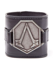 ASSASSIN'S CREED LEATHER SYNDICATE UNITY WRISTBAND OFFICIAL PROMO METAL BADGE