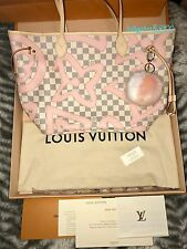 LOUIS VUITTON Neverfull MM Damier Azur TAHITIENNE Special Edition No Pouch BNIB!