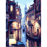 30x40cm Venice DIY Paint By Numbers Oil Painting Kit Canvas A#S