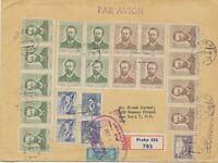 TSCHECHOSLOWAKEI 1954 50.Todestag Anton P. Tschechow russ.Schriftsteller AIRMAIL