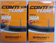 """2 x Continental MTB 26"""" 26 Zoll SV 42 mm Schlauch Conti Fahrrad tune"""